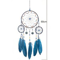 Decorative Objects & Figurines Rings Dream Catcher Handmade Feather Tassel Wall Hanging Decor Dreamcatcher For Home Bedroom Car Ornaments Bi