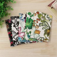 Card Holders Vintage Embroidered Flower Passport Case Cover Multifunction Traveling Portable Air Tickets Visiting Holder Bags