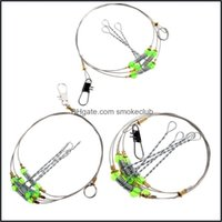 Sports & Outdoorsanti-Winding Swivel String Sea Fishing Hook Steel Rigs Wire Leader Fish Hooks L15 Drop Delivery 2021 Uyfhq
