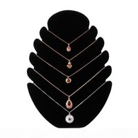 New Necklace Jewelry Velvet Stand Chain Holder Tray Organizer Show Display Rack Jewelry Accessories display8