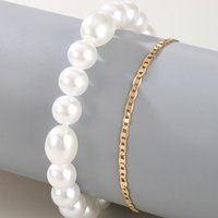 Women Anklets Chains Elegant Pearl Pendant Leg Bracelets Bohemian Beach Foot Chain Ankle Party EVening Jewelry Accessories 2377 Y2