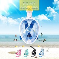 Diving Masks 6 Colors Seaside Silicone Mask Swimming Underwater Anti-fog Detachable Snorkeling Full Face Summer