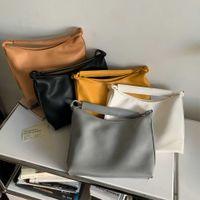 Crossbody Bag Handbag Multi Pochette New Large Capacity Soft Leather Women's Dumplings Korean Fashion Pleated Bags Single Shoulder Satchel Half Moon Bags