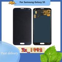 """Paneles táctiles del teléfono celular 5.1 """"Super AMOLED PARA SAMSUNG GALAXY S5 G900F G900H G900 Pantalla de pantalla LCD negra blanca Reemplazo digitalizador"""