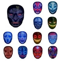 RGB-LED-Gesicht mit Bluetooth-App, leuchtende glänzende Licht-Maske für Kostüm Cosplay Halloween-Weihnachtsfeier Maskerade