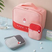 Bolsa de almacenamiento de medicina de viaje portátil Kits de primeros auxilios Médico de automóviles Bolsa de medicina Caja de medicina grande Pequeño portátil Pequeña Pedir Prevención