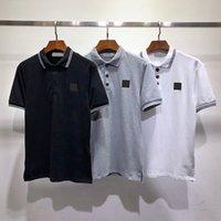 Мужские футболки Polos высочайшее качество с короткими рукавами летняя хлопковая вышивка роскошная футболка новой дизайнерской рубашки поло