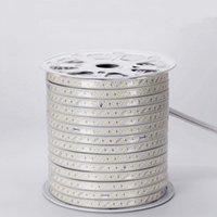 Strips Fanlive 100m / lot 180leds / m Tre fila Strip Light AC110V 220V SMD 5730 IP65 Waterproof Neon LED Lampada Lampada flessibile 21W / M