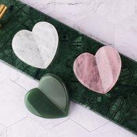 Big Size Gua Sha Tool Face Massager Natural Crystal Stone Love Heart Rose Quartz Guasha Health Care SPA Skin Detox Scraping Massage Head Facial Beauty