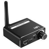Novo 3 EM 1 동축 Fibra Óptica Bluetooth 수용체 5.0 디지털 파라 Conversor De Áudio Analógico U 디스크 플레이 Aux Adaptador Para TV PC