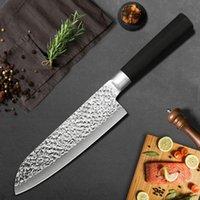 """Cozinha de aço inoxidável faca carne cutelo desossar myvit k6mk-x30s-7in 7 """"não-stick açougueiro facas de sobrevivência caça caça chef knif"""