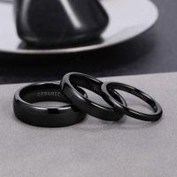 Eamti 2 4 6mm Black Birth Fashion Ceramic Ring Women Men Wedding rings Engagement Band Women's Jewelry Bague Plus Size 4-14