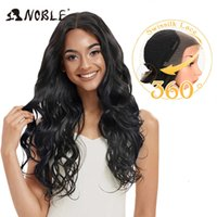Wigs Noble Synthetic Lace Front Pruik 30 Inc 13X4 Longwave 0Mbre Blonde Afro-American wigs For Black Women