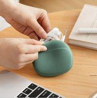 다기능 휴대용 실리콘 이어폰 저장 상자 데이터 라인 피딩 보호 케이스 라인 헤드셋 박스 현대 세련된 HWE5409