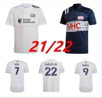 2021 2022 MLS Revolução Azul Jerseys de futebol Bou Buksa Gil Fagundez Penilla Bunbury 21 22 Camisas de futebol