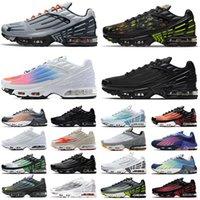 أحذية nike air max airmax tn plus 3 turned III plus 2 احذية الجري أحذية ركض جديدة عالية الجودة لعام للرجال والنساء ، أحذية رياضية باللونين الأسود  والأبيض ، أحذية رياضية خارجية