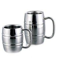 Mugs Double Wall Stainless Steel Coffee Mug Portable Tea Cup Travel Tumbler Jug Milk Cups Office Water Regular
