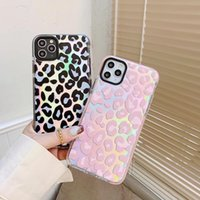Ins brand Leopard Print Animal laser transparent mobile phone cover for iPhone 12 Pro Max 12 Mini 11 Pro Max x XR 7 8 plus se 2020