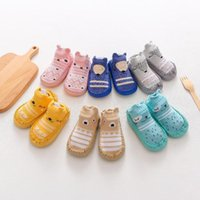 First Walkers Children Anti-slip Shoes Born Baby Girl Cotton Non-slip Floor Socks Boy Rubber Sole Cartoon Indoor Infant