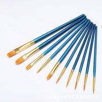 Öl Pinsel eingestellt Runde flach spezige Spitze Nylon Hair Künstler Acrylfarbe Pinsel für Acrylöl Aquarell LLA6984