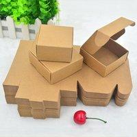 Gift Wrap 50Pcs Lot Packaging Box Handmade Paper Soap Storage Holder Cardboard DIY Folding Natural Craft