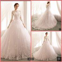 Robe de soiree branco tule bola vestido modesto vestidos de casamento de manga longa apliques de renda frisada princesa vintage vestido de noiva dubai árabe islâmico vestidos de noiva islâmica