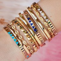 2021 Gold Color CZ Band Bangle Bracelet for Women Micro Pave Rainbow CZ Colorful Trendy Fashion Female Jewelry Inner Diameter 60MM