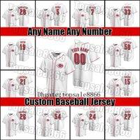 Reds 19 Joey Votto Eugenio Suarez Jersey Cincinnati Johnny Bench Pete Rose Barry Larkin Jerseys Luis Castillo Nick Castellanos Nick Senzel