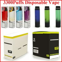 3300Puffs 충전식 일회용 담배 10ml vape 펜 포드 600mAh 마이크로 USB 배터리 전자 담배