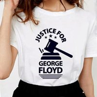Anti -Racism Justice for George Floyd T Shirts Women Letter Print Soft Cotton I Can 'T Breathe Graphic Tees Women White Tops S-2XL