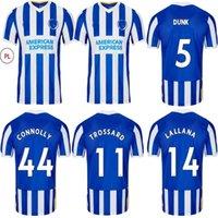 21 22 BLOVE ALBION 2021 Fussball Jerseys Home Bule Maupay Lallana Dunk Football Hemdkonnoly Trossard Jersey Uniformen