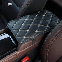 Assento de carro Capas Seametal Couro Armário Auto Arm Rest Protetor de Almofada Universal Caixa Capa À Prova D 'Água Anti Slip Pad Tapete