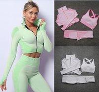 Womens designer Yoga Tracksuits Fitness 3pcs Bra coats jacket top Leggings outdoor outfits Sports pants Gym workout sets yogaworld Align pant teach wear sport suit