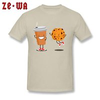 CCCCSPortDrop 운송 도매 최고 품질 일반 T 셔츠 커피 쿠키 재미있는 만화 일러스트 기본 tshirt 가을 겨울 티셔츠 남자