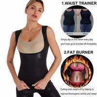 Sauna Sweat Vest for Women Workout Tank Top Slimming Polymer Sauna Suit Waist Trainer Shirt Waist Traine Fitness Body Shaper