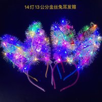 Luminous gold rabbit ear cat ear antler hair hoop stall push sweep yard night market explosion of small toy gifts