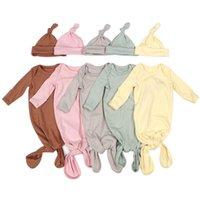 Infant Sleeping Bags Newborn Baby Swaddle Blanket hats 2 pcs Wrap Toddler Cotton Cartoon pajamas Sleep Bag Photography Prop
