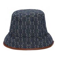 2021 мода улица шляпа бейсболка для бейсболки рыбацкие шапки мужчины и женщины маленький ободок джинсовые голубые холст шляпы
