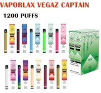 Оригинальный Vaporlax Vegaz Captain Одноразовый Комплект устройств POD 1 Утилизация 1200Установок
