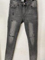 Новое прибытие Мужские дизайнерские джинсы разорваны большие отверстие винтажные стильные дыра мода мужские джинсы тонкий мотоцикл байкерские байкерские брюки