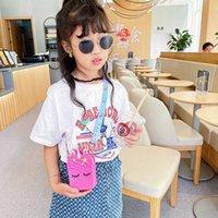 Kids Purse Handbags Cartoon Unicorn Children's Bag Cute Versatile Children Coin Wallet Summer Candy Color Silicone Messenger Bags G7047SU