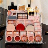 Hooks & Rails Eye Shadow Storage Box Air Cushion Display Plastic Finishing Desktop Manicure Lipstick Cosmetic Makeup Rack