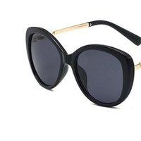 الأزياء اللؤلؤ مصمم النظارات الشمسية عالية الجودة العلامة التجارية نظارات الشمس القط العين المعادن الإطار النساء النظارات 5 اللون