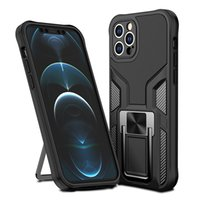Braketi Rugged Zırh Shockroof Hibrid TPU PC Cep Telefonu Kılıfları iphone 12 11 Pro Max XR XS 8 7 Samsung S21 S20 Note20 Artı Ultra Çalışma Manyetik Araba Tutucu ile