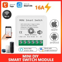 16A Tuya WiFi Switch Module with Smart Life App 2 Way Control, SmartHome Automation Interruptor Work for Alexa, google home
