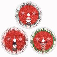 78 cm Redondo Árbol de Navidad Faldas Franel Mat Alfombra Alfombra Decorativa para Festival Decoración Navidad