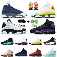 Nike Air Jordan Retro 13 Jordans 13s أعلى جودة ثانية jumpman أحذية كرة السلة الرجال النساء فلينت 2020 جزيرة الأرجواني ليكرز الساتانالأردنأحذية رياضية الرجعية