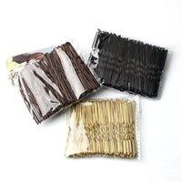 Clipes de cabelo 100 pcs 6cm acenou em forma de U-em forma de Bobby Pin Barrette Salon Grip Grip Cabeleireiro Acessórios de Metal Preto para Bolo