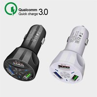 شاحن سيارة QC3.0 شاحن سريع 3 منفذ USB شاحن سيارة سريع CE FCC ROHS معتمدة لسامسونج Samsung Huawei Tablet