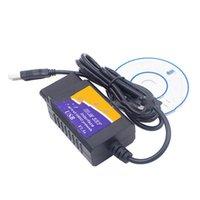 Auto-Diagnose-Tool-Detektor ELM327 USB-Kabelanschluss V1.5 OBD2-Fehlermesser OBDII-Computer mit CD und Handbuch